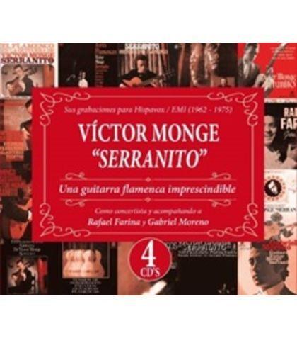 VICTOR MONGE SERRANITO  4 CD UNA GUITARRA FLAMENCA IMPRESCINDIBLE ( WARNER)