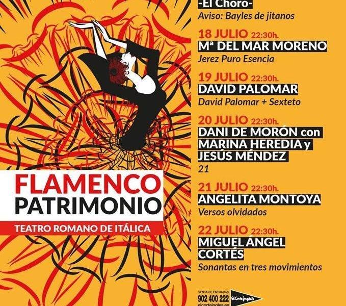 Sabia conjunción de Patrimonios: Teatro Romano Itálica acoge el Ciclo Patrimonio Flamenco