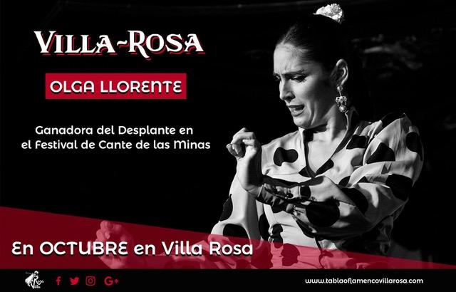 """Olga Llorente, ganadora del """"Desplante 2019"""" del Festival Cante de las Minas, actúa en los tablaos de Madrid"""