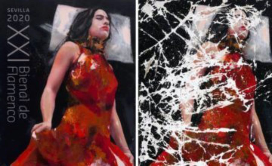 Lita Cabellut presenta el cartel de XXI Bienal de Flamenco, que se celebra en Sevilla del 4 de septiembre al 4 de octubre de 2020