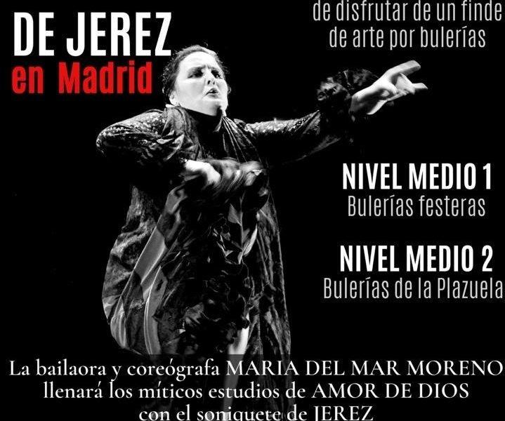 11 y 12 de julio, María del Mar Moreno imparte un intensivo de Bulerías de Jerez en Amor de Dios
