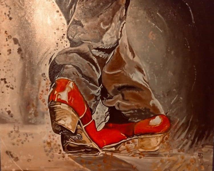 Pintura flamenca de Isabelle García, que pronto exhibirá en Málaga