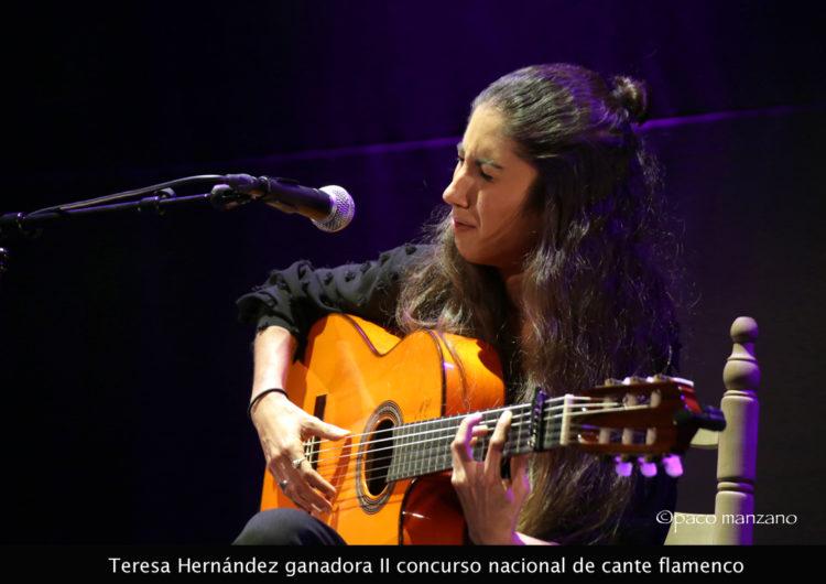 La joven Teresa Hernández gana el Concurso Nacional de Cante Zamara