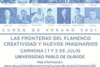 1 y 2 de julio, Cursos de Verano de Flamenco de la Universidad Pablo de Olavide en  Carmona